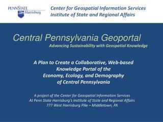 Central Pennsylvania  Geoportal