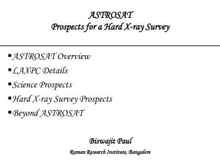 ASTROSAT Prospects for a Hard X-ray Survey