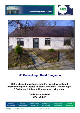60 Creevelough Road Dungannon