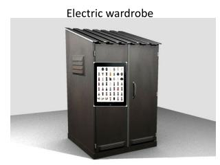 Electric wardrobe