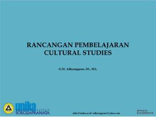 RANCANGAN PEMBELAJARAN CULTURAL STUDIES