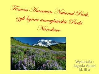 Famous American National Park, czyli s ł ynne ameryka ń skie Parki Narodowe