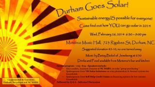 Durham Goes Solar!