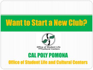 Want to Start a New Club?