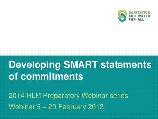 Developing  SMART statements of commitments