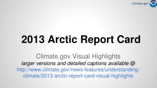 2013 Arctic Report Card