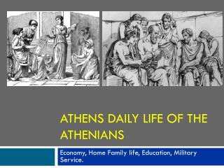 Athens daily life of the Athenians
