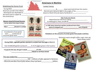 Americans In Wartime