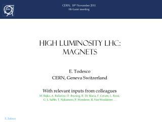 HIGH LUMINOSITY LHC: MAGNETS