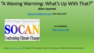 """A Waning Warming: What's Up With That ?"""
