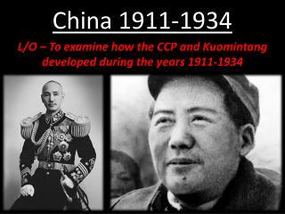 China 1911-1934