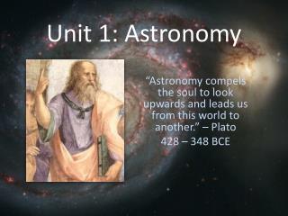 Unit 1: Astronomy