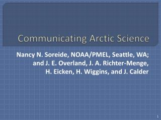 Communicating Arctic Science