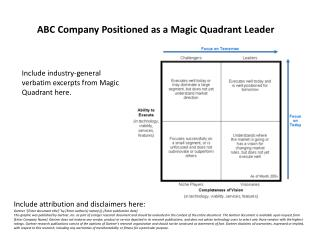 ABC Company Positioned as a Magic Quadrant Leader