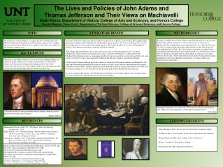 The Lives and Policies of John Adams and  Thomas  Jefferson and  Their  Views on Machiavelli