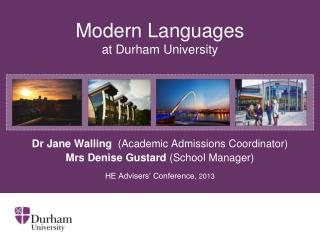Modern  Languages at  Durham  University