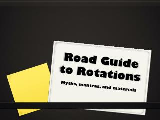 Road Guide to Rotations