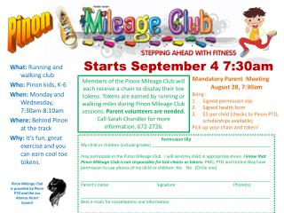 Starts September  4 7:30am