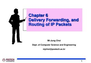 Chapter 6  Delivery Forwarding, and    Routing of IP Packets