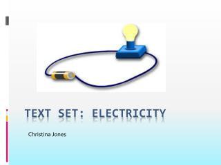 Text Set: Electricity