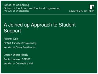 A Joined up Approach to Student Support