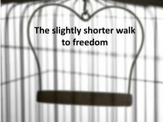 The slightly shorter walk to freedom