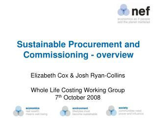 Sustainable Procurement and Commissioning - overview