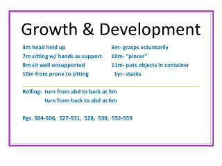 Growth & Development