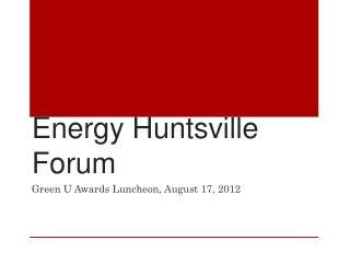 Energy Huntsville Forum