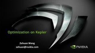 Optimization on  Kepler