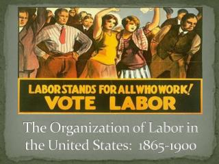 The Organization of Labor in the United States:  1865-1900