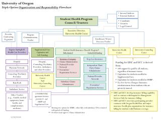 University of Oregon Triple Option  Organization and Responsibility  Flowchart