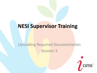 NESI Supervisor Training