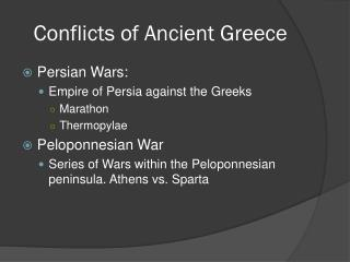 Conflicts of Ancient Greece