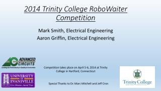 2014 Trinity College RoboWaiter Competition