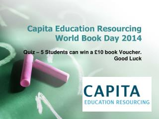 Capita Education Resourcing  World Book Day 2014