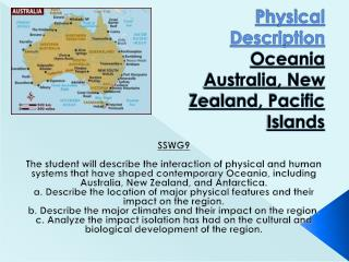 Physical Description Oceania Australia, New Zealand, Pacific Islands