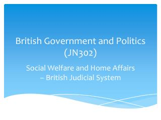 British Government  and Politics (JN302)