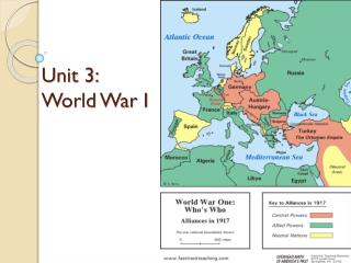 Unit 3:   World War I