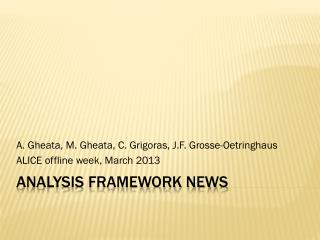 Analysis  Framework news
