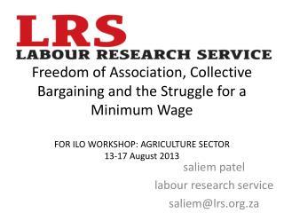 saliem patel labour research service saliem@lrs.za
