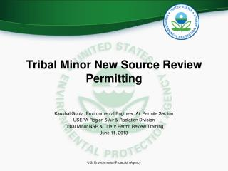 Tribal Minor New Source Review Permitting