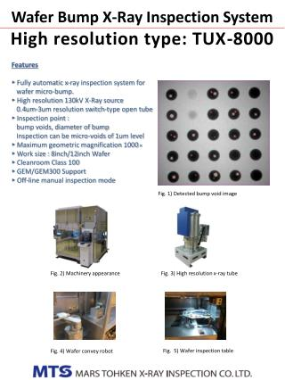 Wafer Bump X-Ray Inspection System High resolution type : TUX-8000