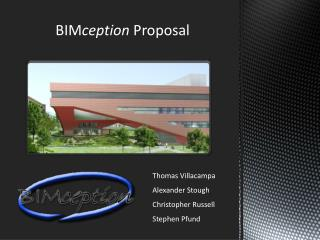 BIM ception  Proposal