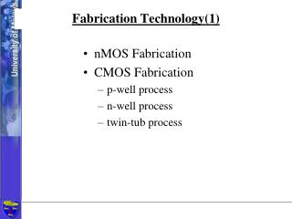 Fabrication Technology(1)