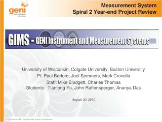 Measurement System Spiral 2 Year-end Project Review