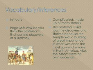 Vocabulary/Inferences