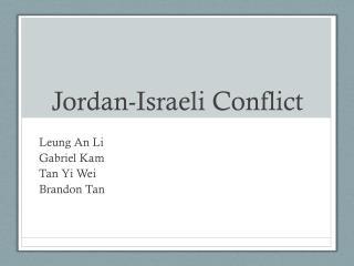 Jordan-Israeli Conflict