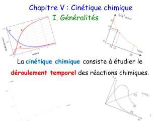 Chapitre V : Cinétique chimique