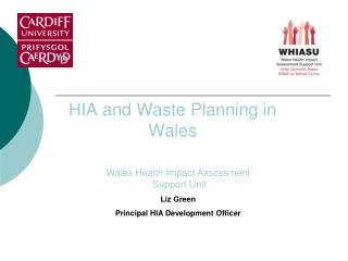 HIA and Waste Planning in  Wales
